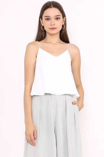 BREE 2-WAY CAMI TOP (WHITE)(SIZE L)