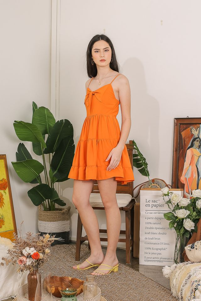 JESSICA KNOTTED TIERED DRESS (ORANGE)