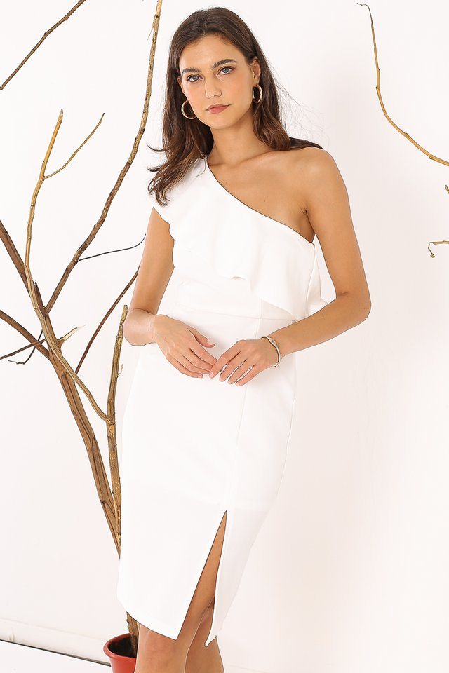 TAHLIA TOGA DRESS (WHITE)