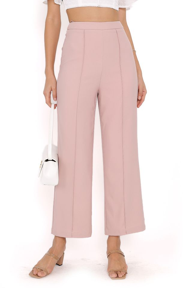 PACEY PANELLED PANTS (DUSTY PINK) (XL)