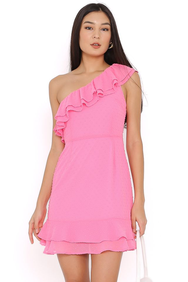 SYLVIA SWISS DOT DRESS (PINK)