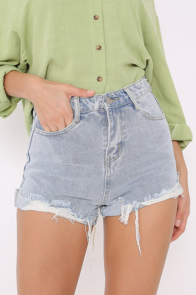 *BACKORDER* DARYL DENIM SHORTS (ACID WASH)