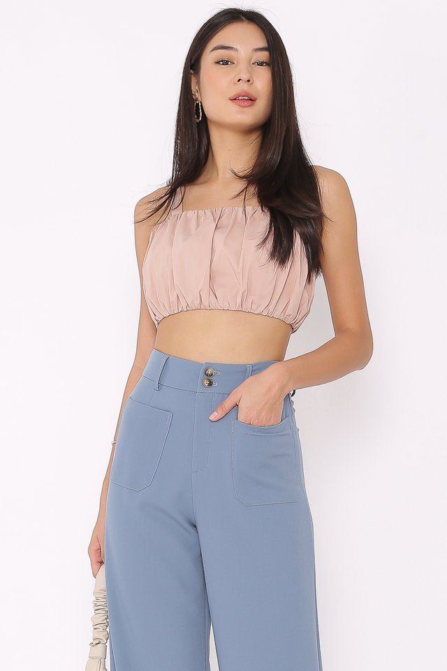 RENA RUCHED TOP (BLUSH)