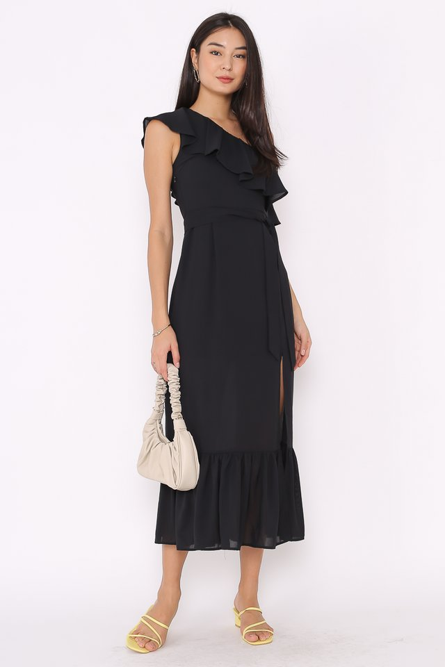 TABITHA TOGA MAXI DRESS (BLACK)