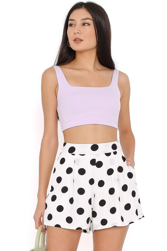 HASHY SQUARE NECK TOP (LILAC)