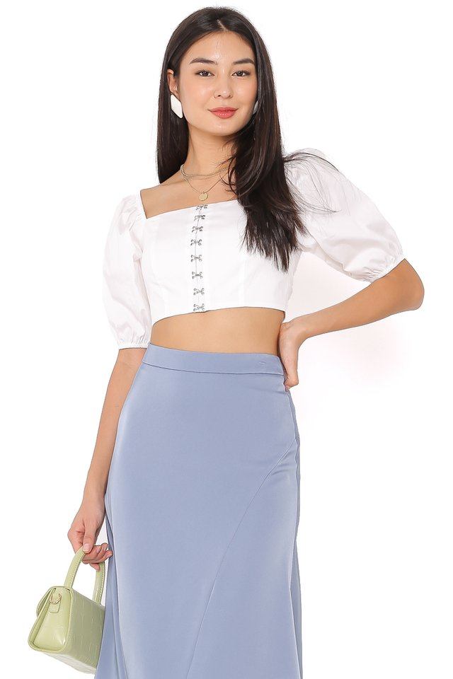 HAYLIE HOOK TOP (WHITE)
