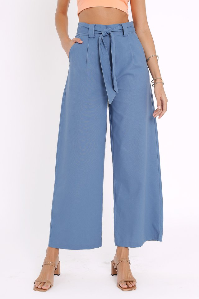 LANDON LINEN PANTS (AIRFORCE BLUE)