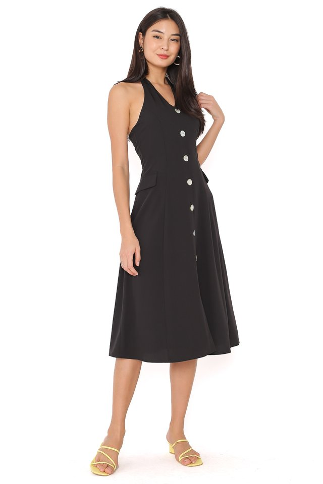 MARILYN HALTER DRESS (BLACK)