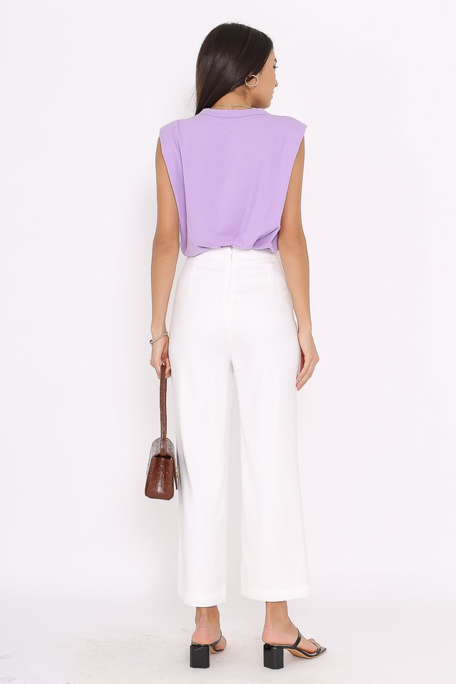 PAT SHOULDER PADDED TOP (PURPLE)
