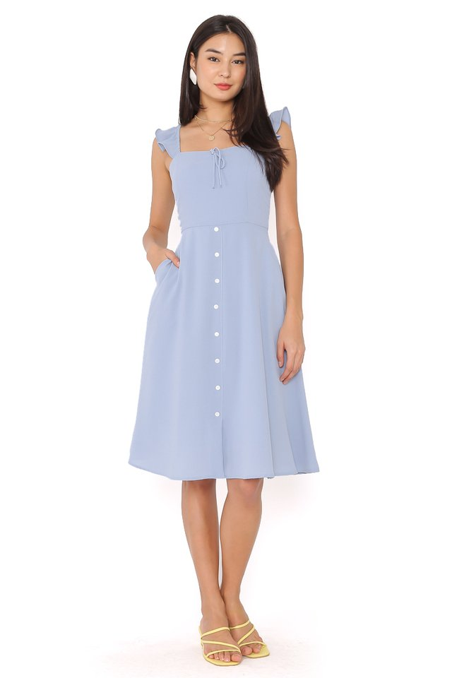 RACHEL RUFFLE DRESS (BABY BLUE)
