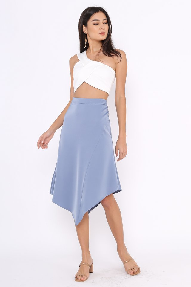 AMARA HANDKERCHIEF SKIRT (DUSK BLUE)