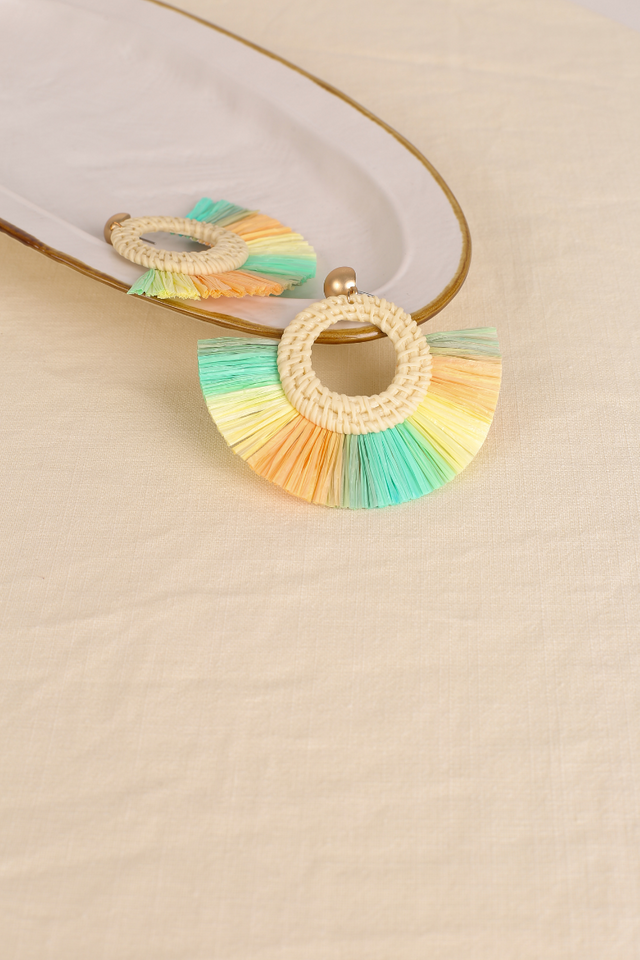 MAYA MULTICOLOUR FAN EARRINGS