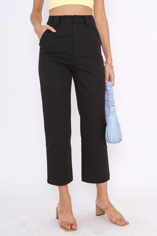 *BACKORDER* EMILY STRAIGHT LEG PANTS (BLACK)
