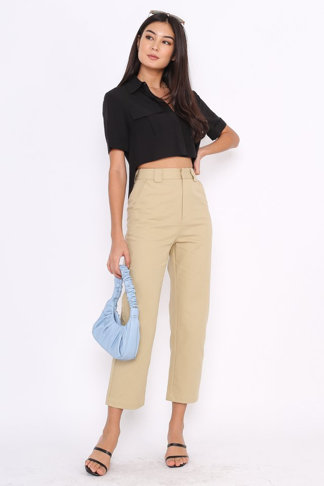 *BACKORDER* EMILY STRAIGHT LEG PANTS (KHAKI)