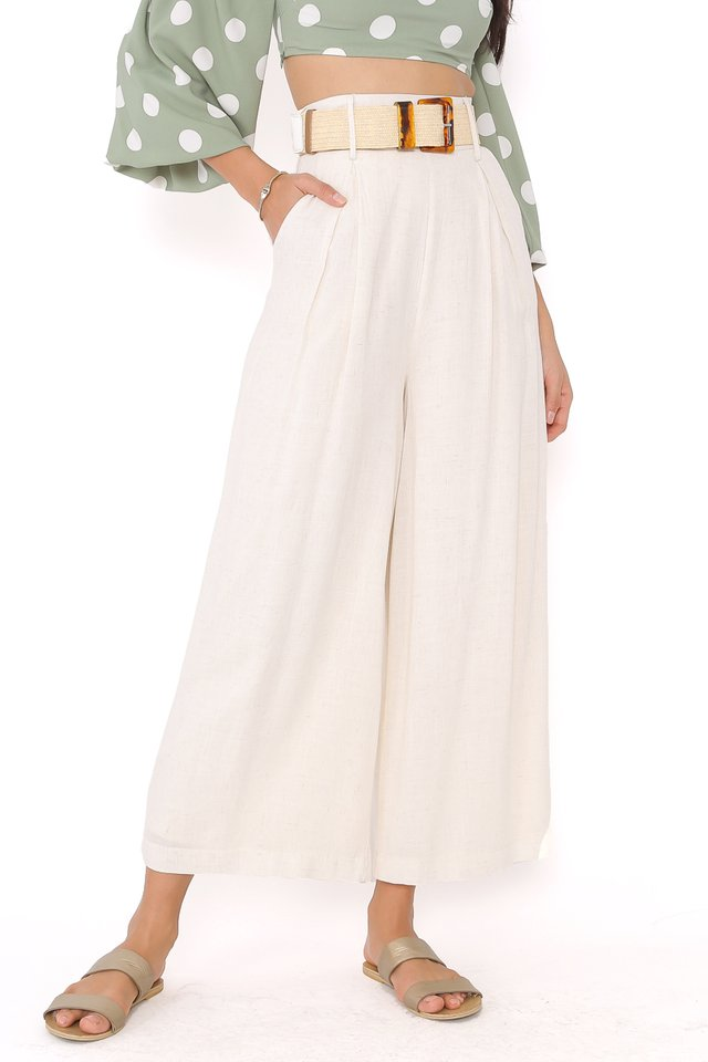 LAUREN LINEN PANTS (ORGANIC WHEAT)