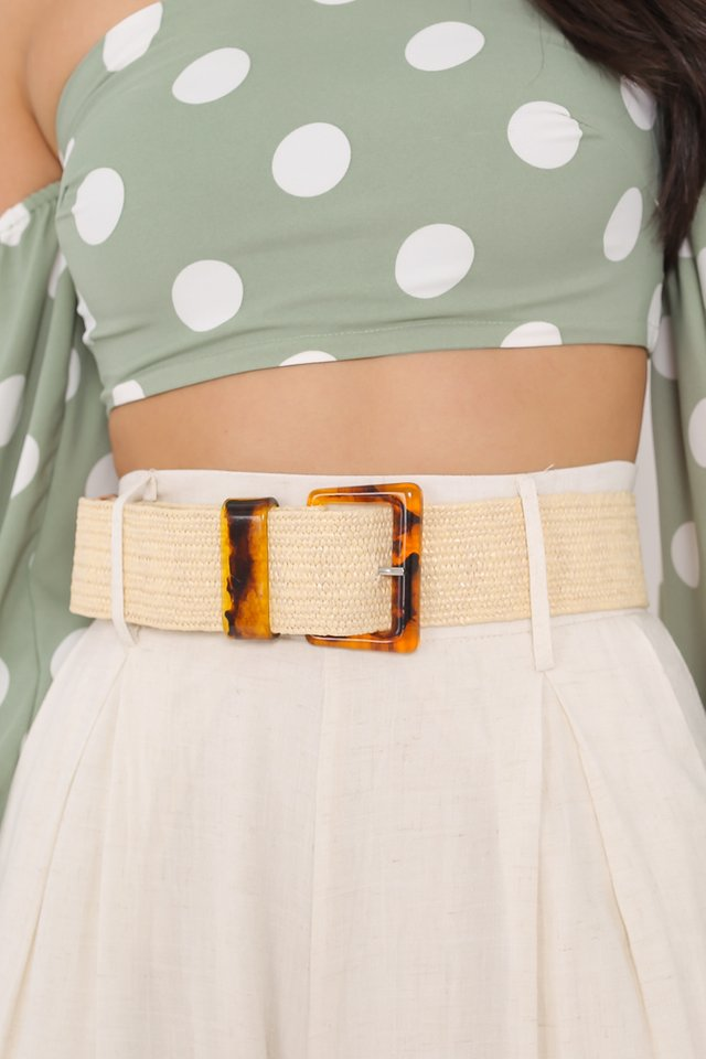 BETSY MARBLE BRAIDED BELT