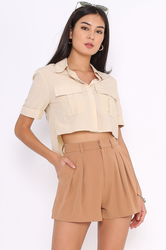 PEYTON DOUBLE POCKET SHIRT (SAND)