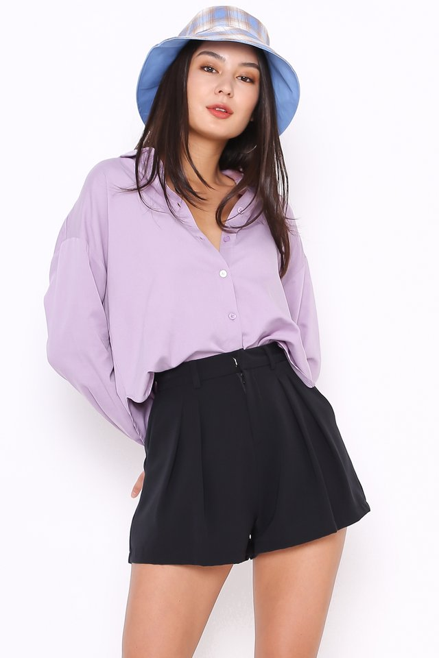 SHAWN SLOUCHY SHIRT (PURPLE)