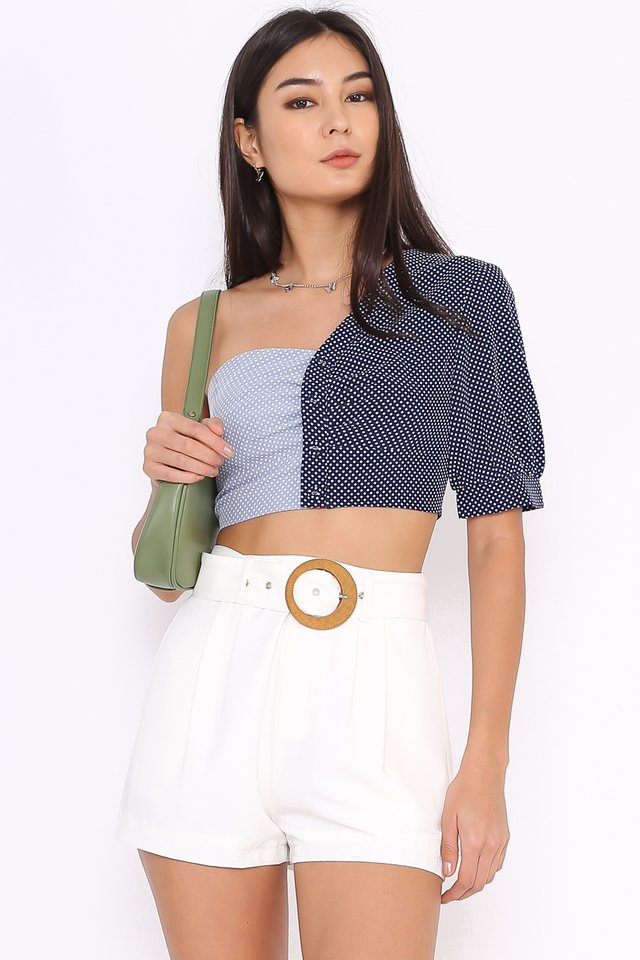 PENELOPE POLKA DOT TOP (BLUE)