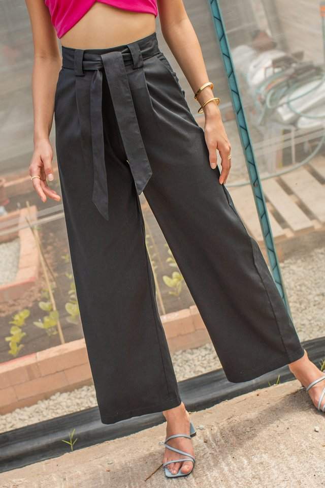 LANDON LINEN PANTS (BLACK)