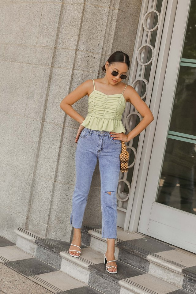 KELLY KNEE SLIT JEANS