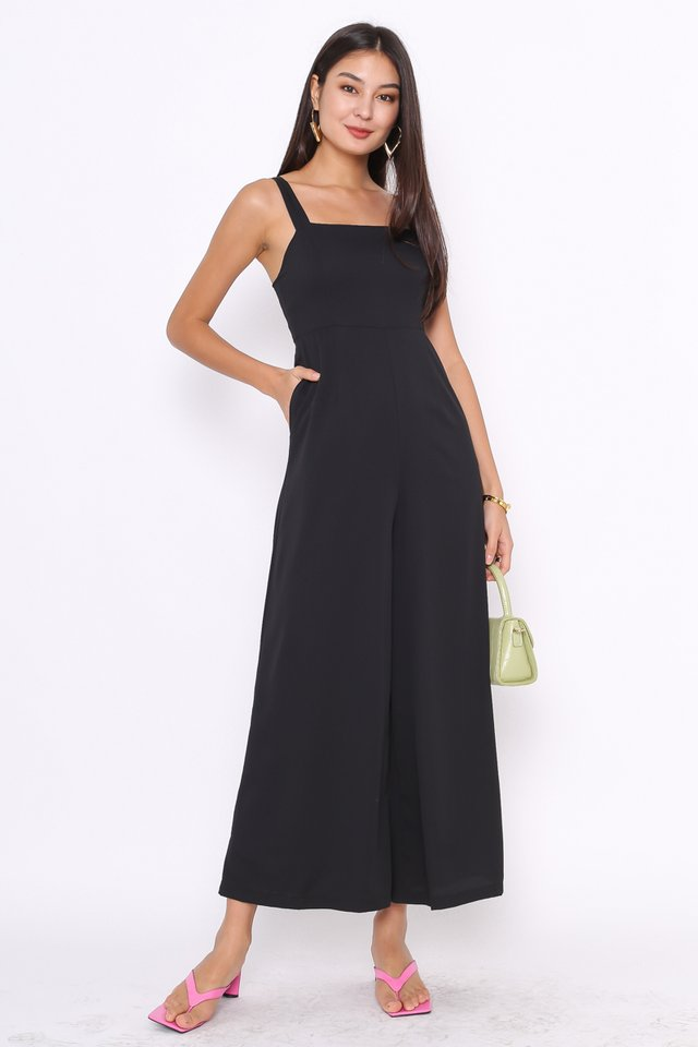 MELODY WIDE LEG JUMPSUIT (BLACK)