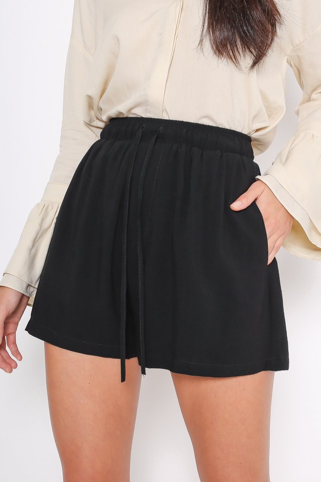 DALTON DRAWSTRING SHORTS (BLACK)