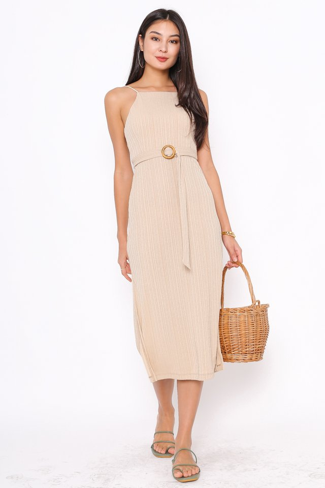 KELSEY KNITTED DRESS (NUDE)