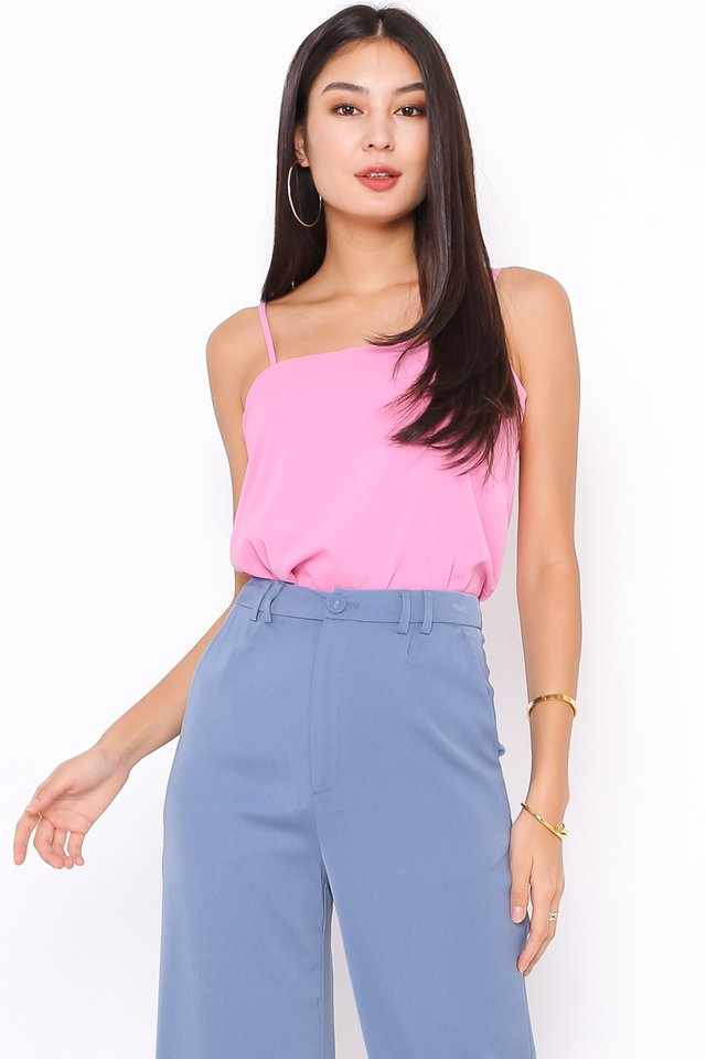 SABBY STRAIGHT NECK TOP (BARBIE PINK)