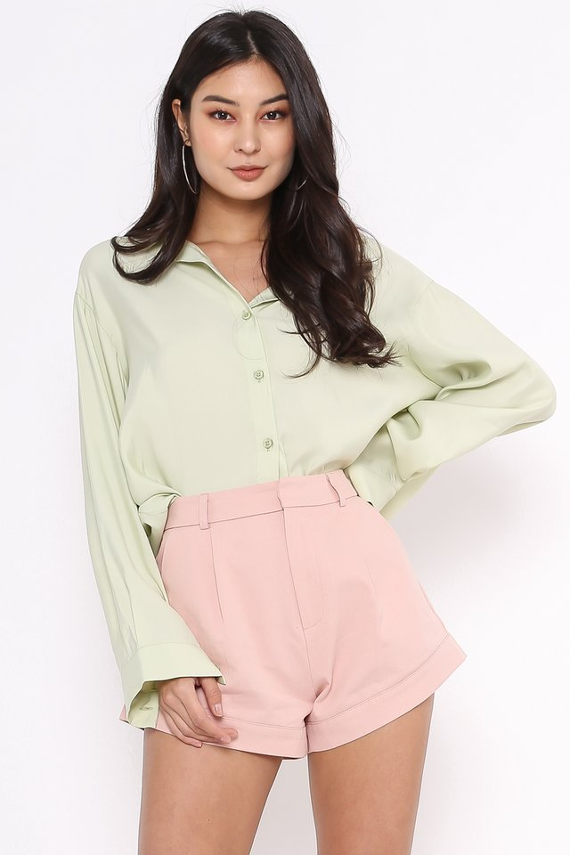RAEGAN RELAXED SHIRT (APPLE GREEN)