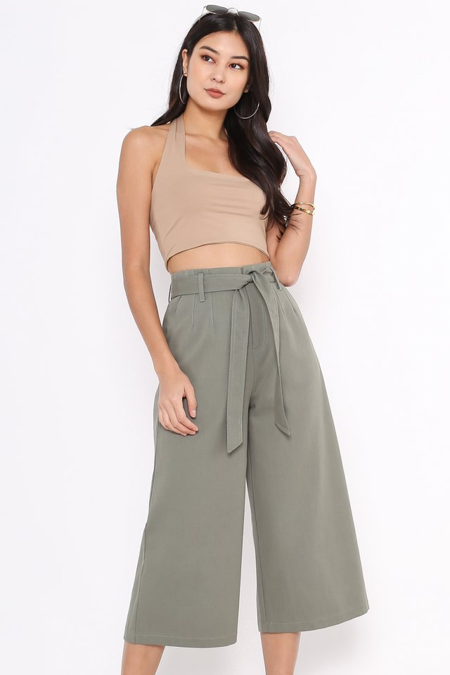 SADIE SASH DENIM PANTS (SAGE GREEN)