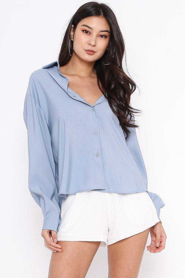 RAEGAN RELAXED SHIRT (DUSK BLUE)