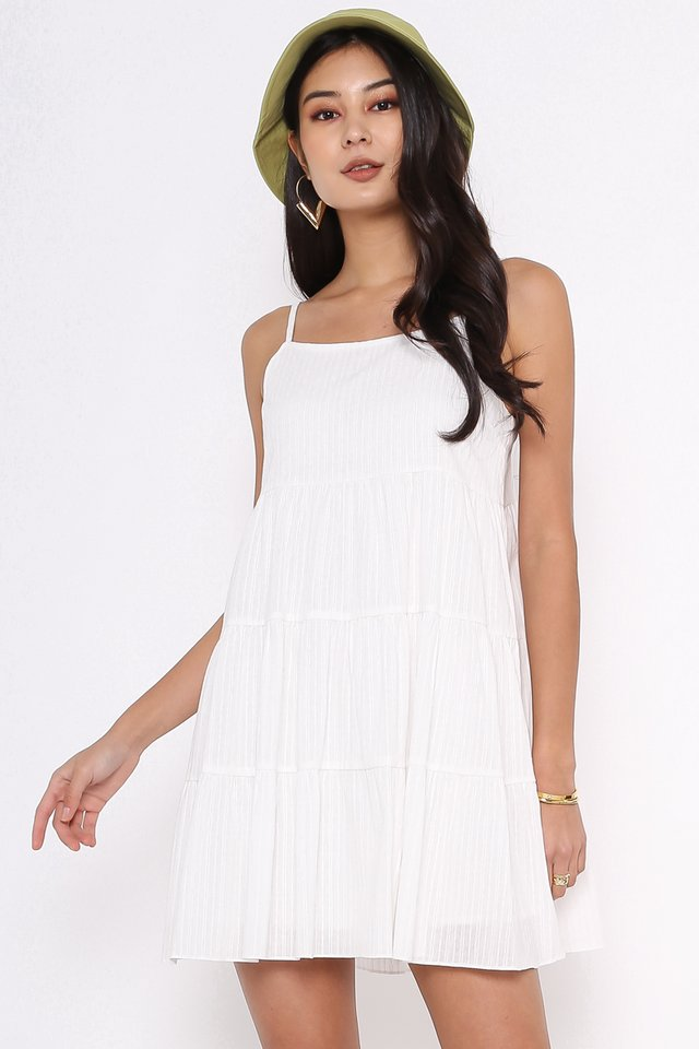 BELINDA BABYDOLL DRESS (WHITE)