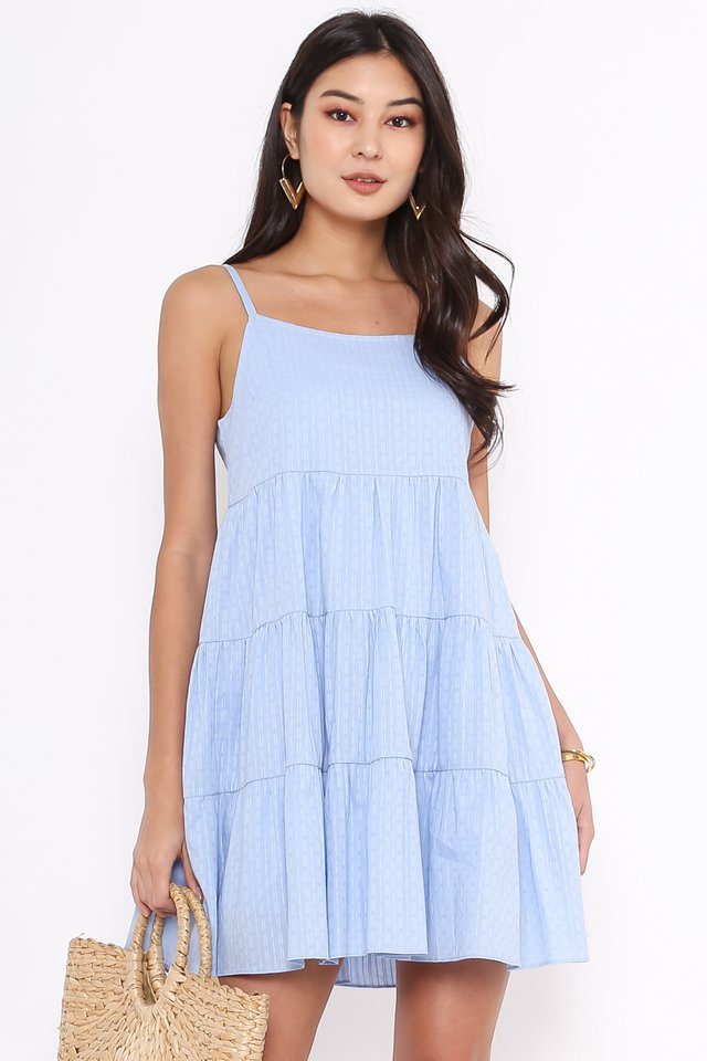 BELINDA BABYDOLL DRESS (SKY BLUE)
