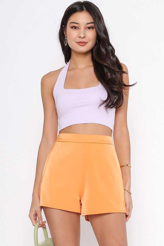 SONIA SATIN SHORTS (ORANGE)