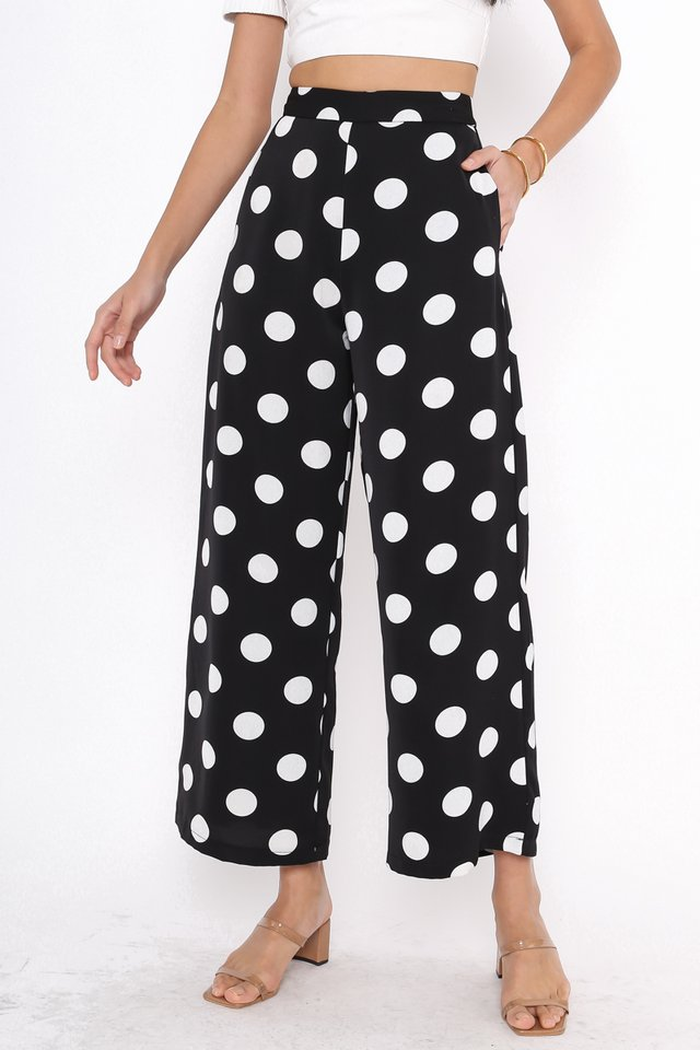 PATRICIA POLKA DOT PANTS (BLACK)