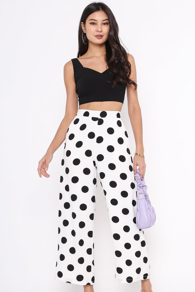 PATRICIA POLKA DOT PANTS (WHITE)