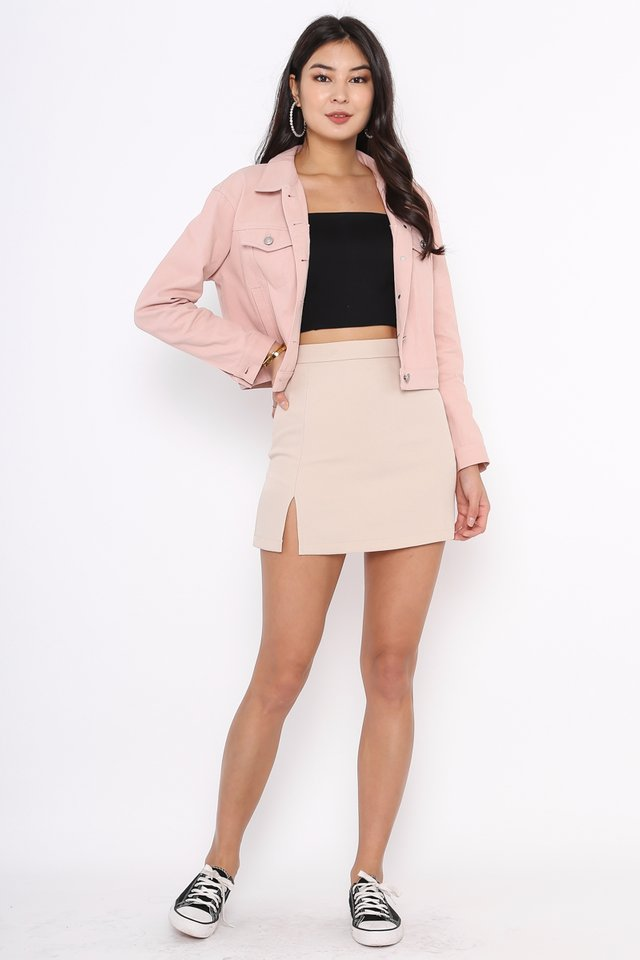 DYLAN DENIM JACKET (PINK)