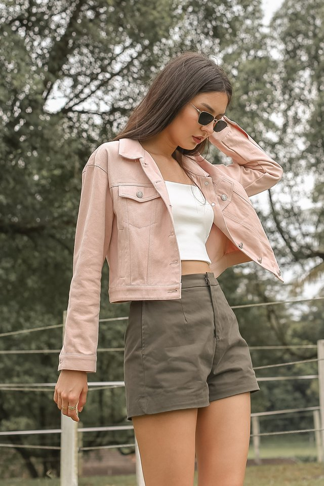 SAMMY STRUCTURED SHORTS (DARK OLIVE)