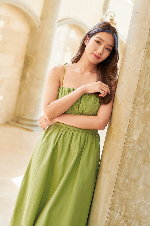 TAYLOR TIE STRING DRESS (APPLE GREEN)