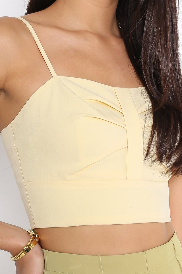BEVERLY BOW FRONT TOP (LIGHT PASTEL YELLOW)
