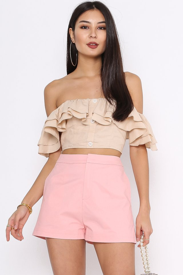 SAMMY STRUCTURED SHORTS (LIGHT PINK)