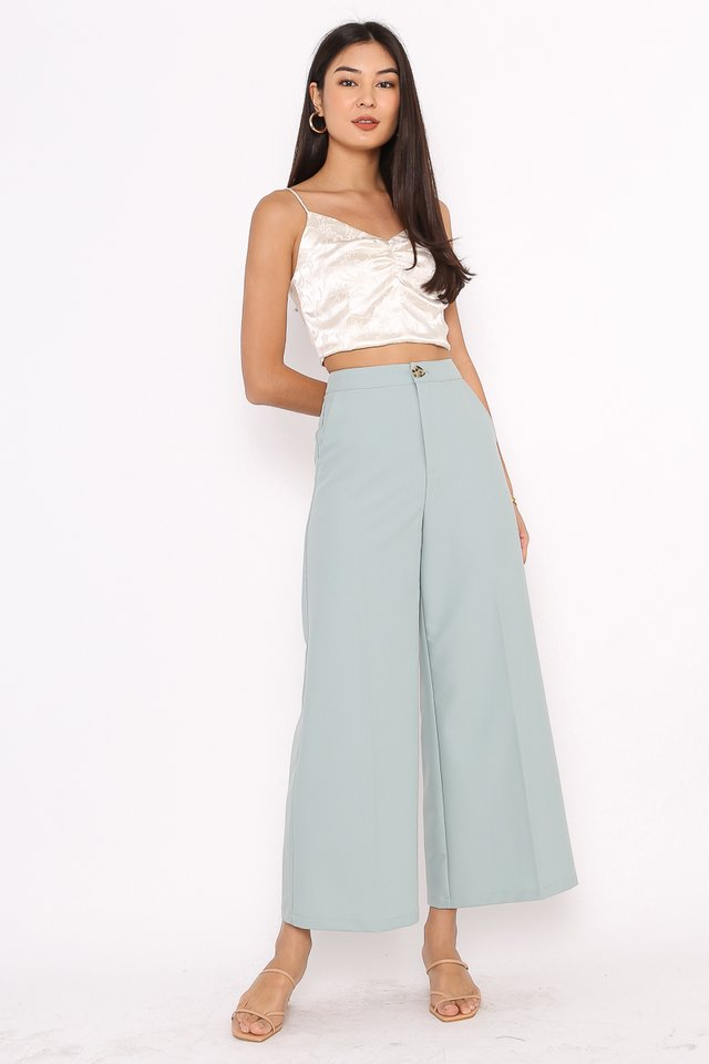 IRIS IRREGULAR BUTTON PANTS (SEA-SALT GREEN)