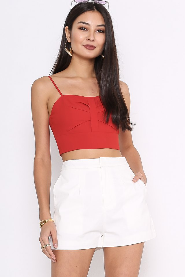 BEVERLY BOW FRONT TOP (CRANBERRY RED)