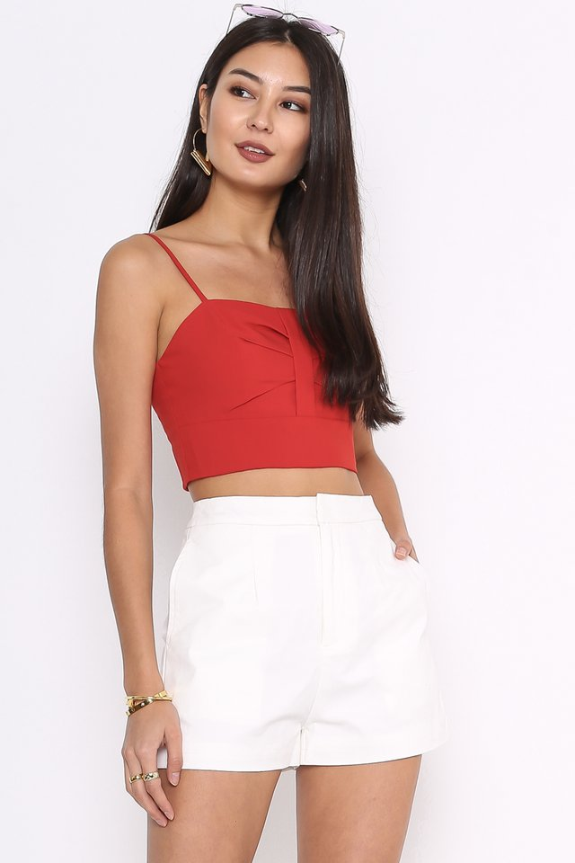 *BACKORDER* SAMMY STRUCTURED SHORTS (WHITE)