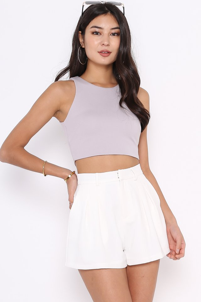 RENAE RACER TOP (LILAC GREY)