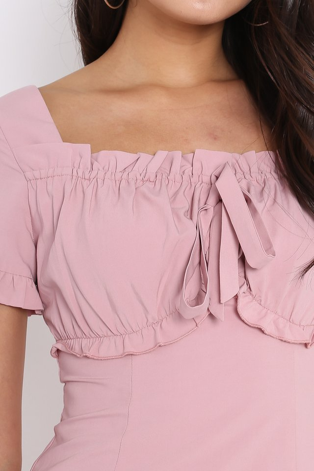 STEPHANIE SWEETHEART DRESS (PINK)