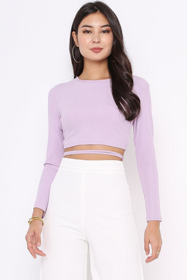 OLLIE OPEN BACK TOP (LILAC)