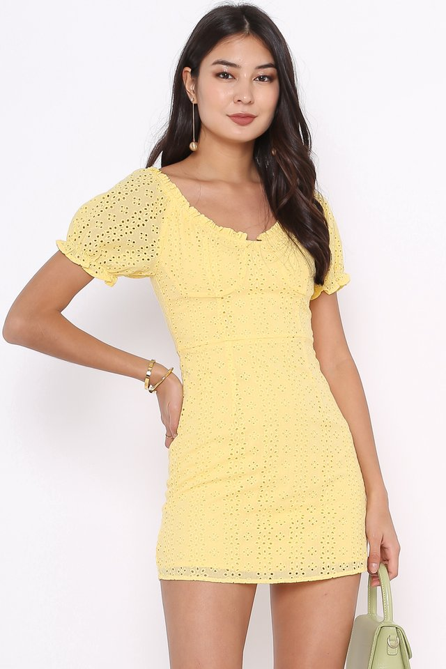 CALLIE CROCHET DRESS (YELLOW)