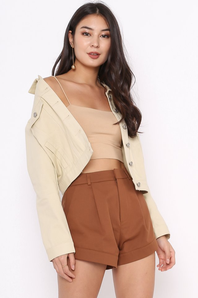 KIMMY KNITTED TOP  (SANDSTONE NUDE)